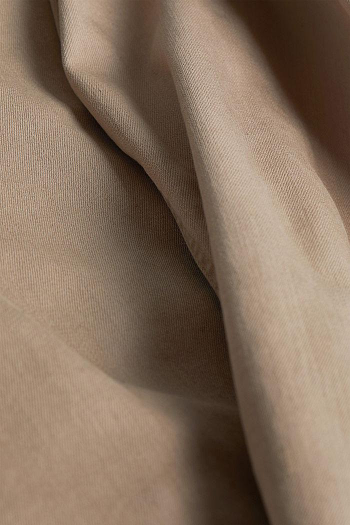 Hose aus Baumwoll-Stretch, LIGHT BEIGE, detail image number 4