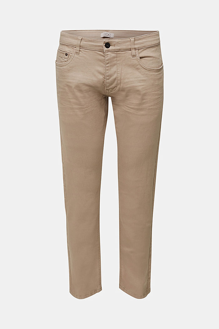 Stretch cotton trousers, LIGHT BEIGE, detail image number 5