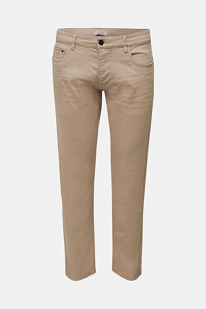 Hose aus Baumwoll-Stretch, LIGHT BEIGE, detail image number 5