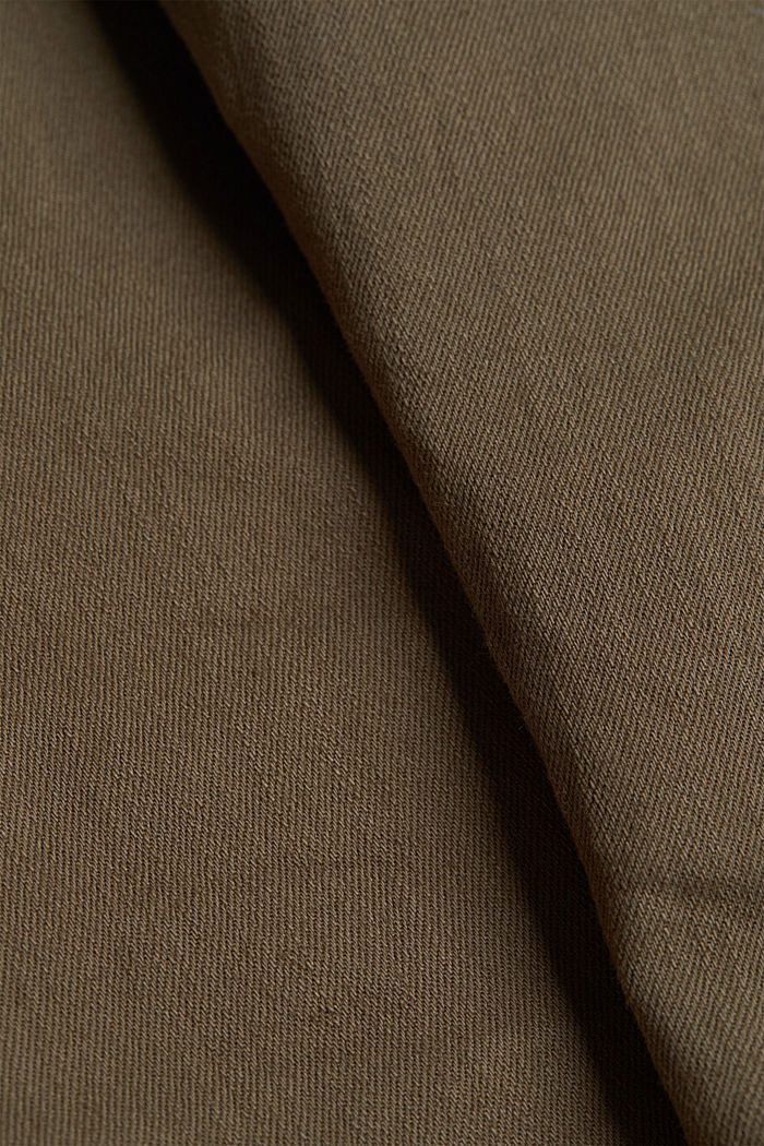 Stretch cotton trousers, DARK KHAKI, detail image number 4