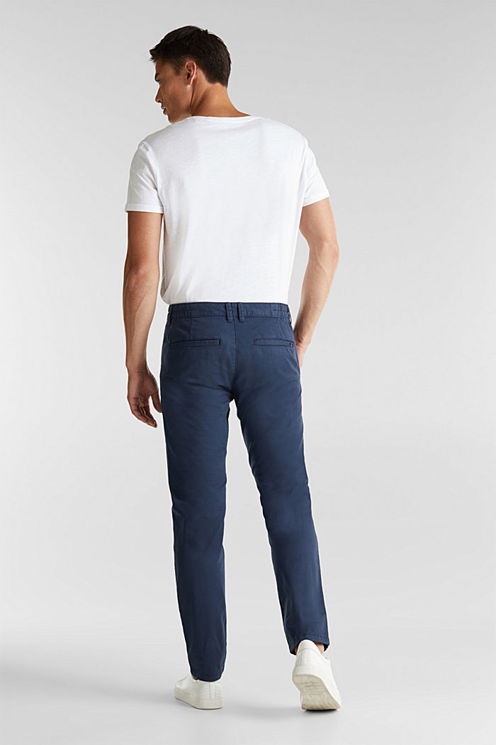 Stretch cotton chinos, GREY BLUE, detail image number 3