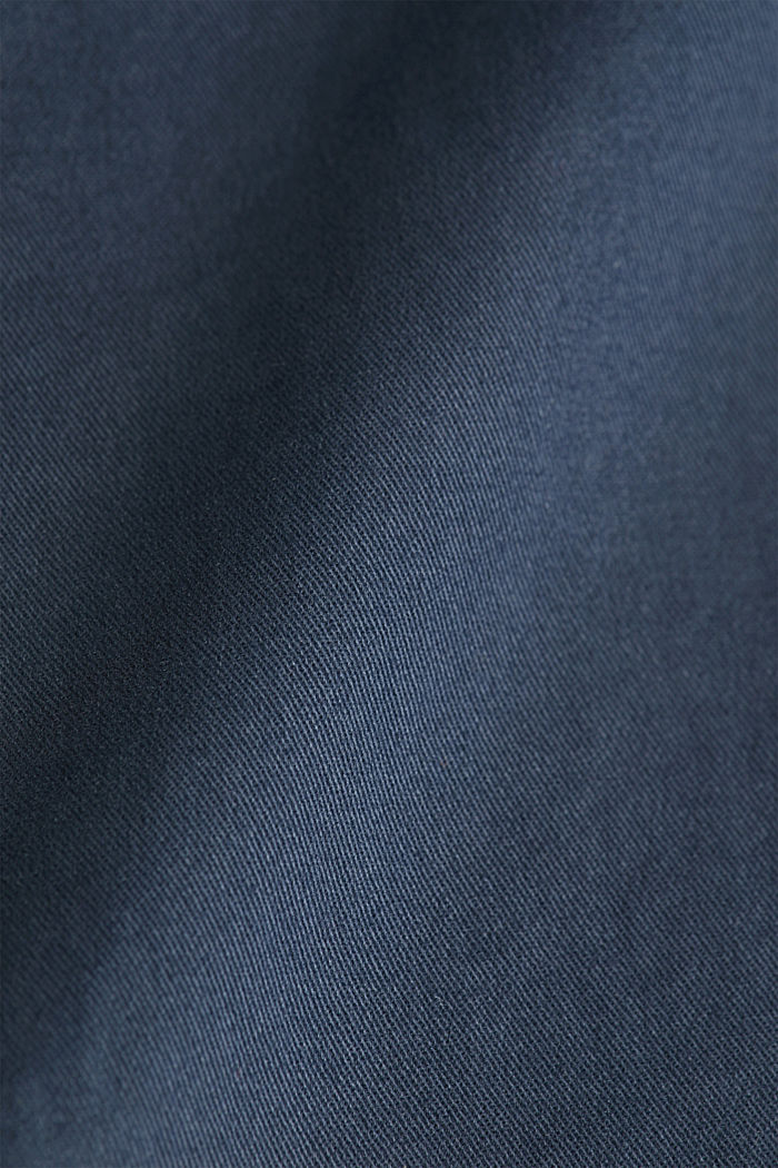 Stretch cotton chinos, GREY BLUE, detail image number 4