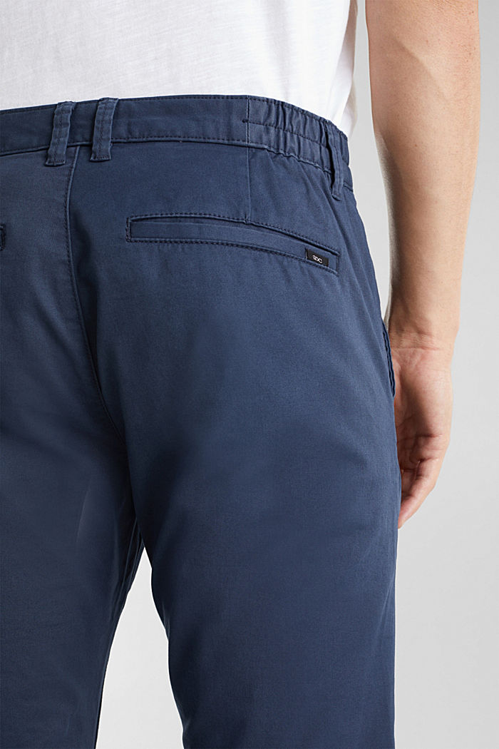 Stretch cotton chinos, GREY BLUE, detail image number 5