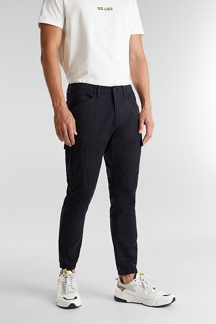 Cargo trousers containing organic cotton, BLACK, detail image number 6