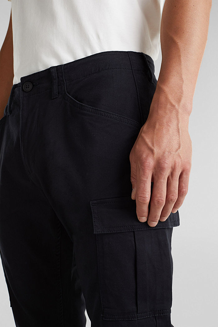 Cargo trousers containing organic cotton, BLACK, detail image number 2
