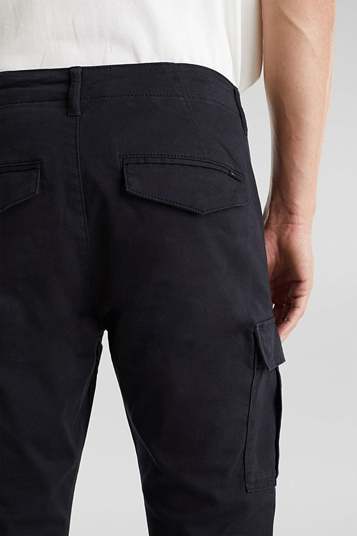 Cargo trousers containing organic cotton, BLACK, detail image number 7