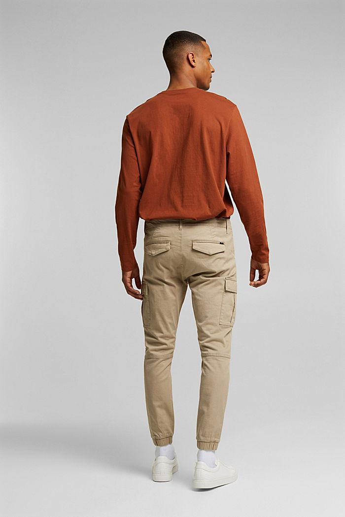 Cargo trousers containing organic cotton, BEIGE, detail image number 3