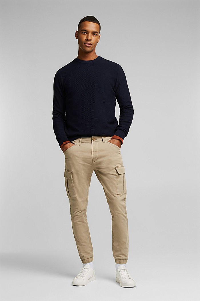 Cargo trousers containing organic cotton, BEIGE, detail image number 1