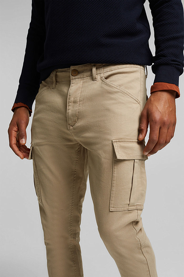 Cargo trousers containing organic cotton, BEIGE, detail image number 2