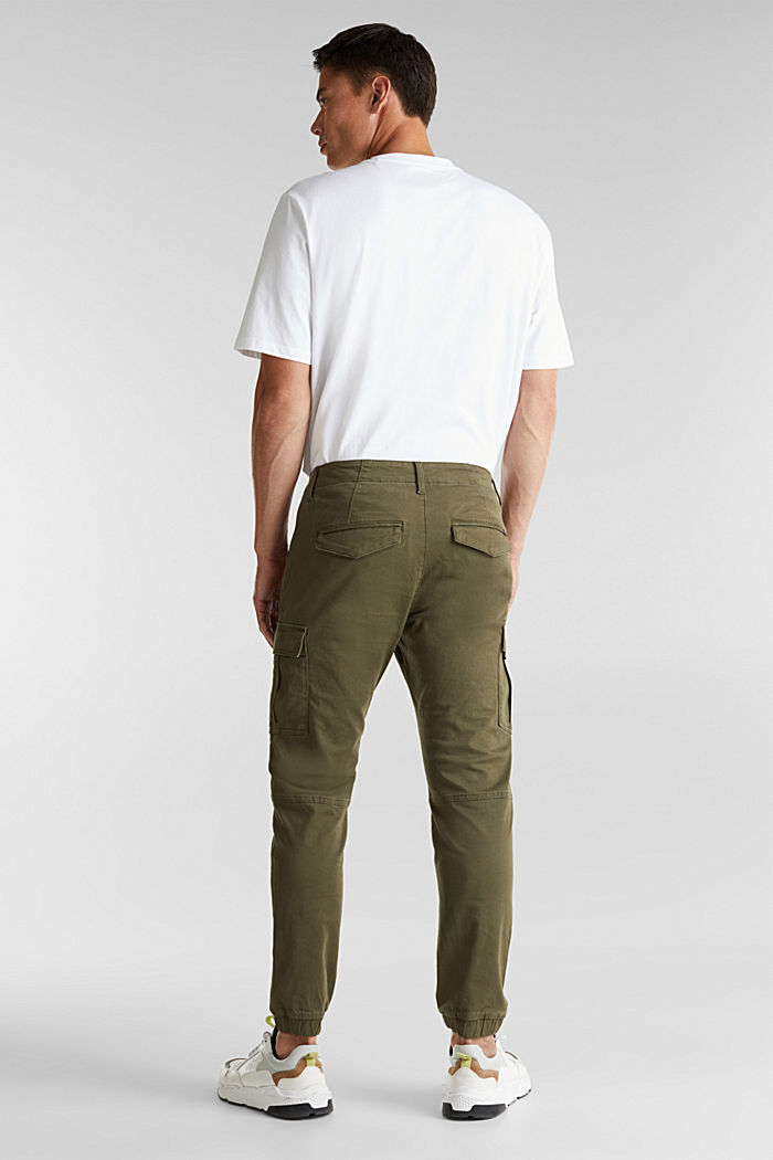 Cargo trousers containing organic cotton, DARK KHAKI, detail image number 3