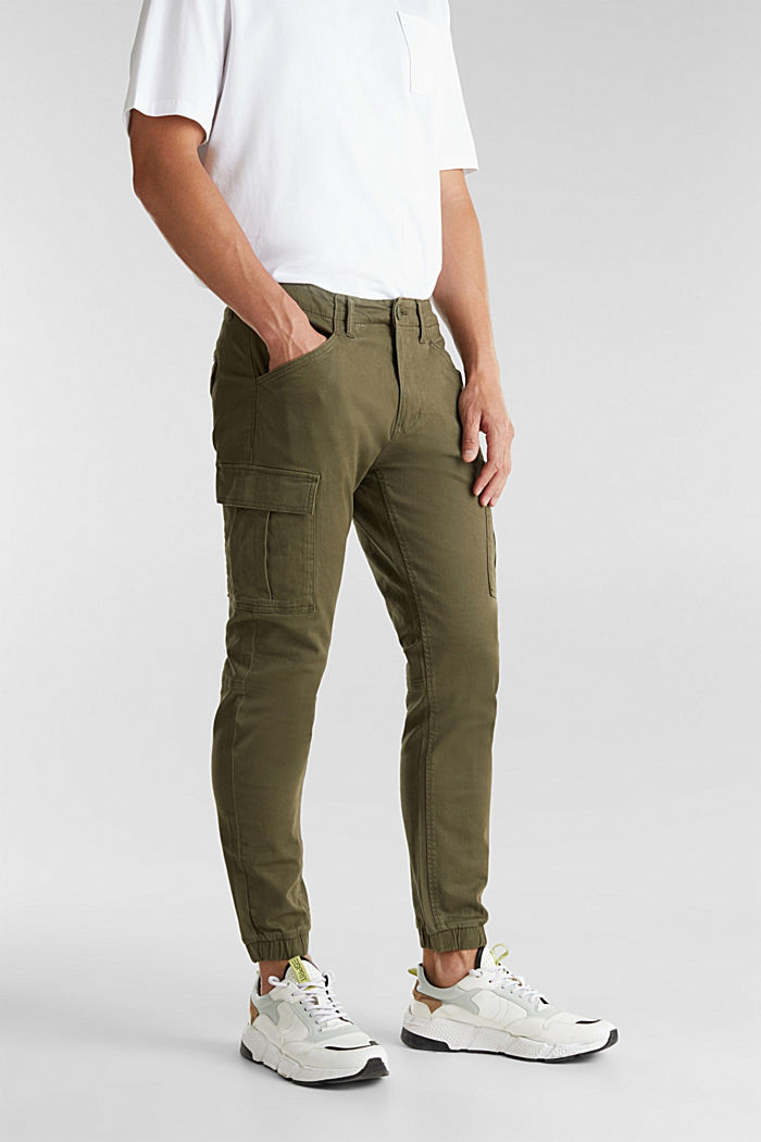 Cargo trousers containing organic cotton, DARK KHAKI, detail image number 6