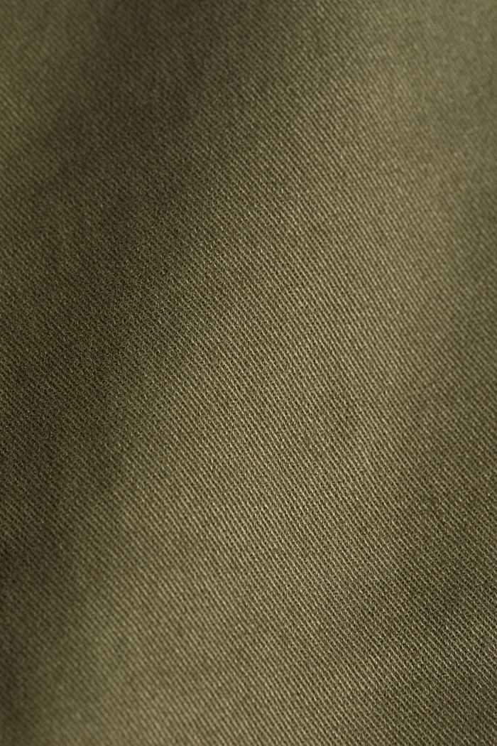 Cargo trousers containing organic cotton, DARK KHAKI, detail image number 4