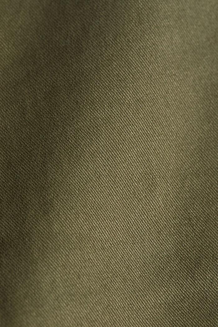 Cargobroek met organic cotton, DARK KHAKI, detail image number 4