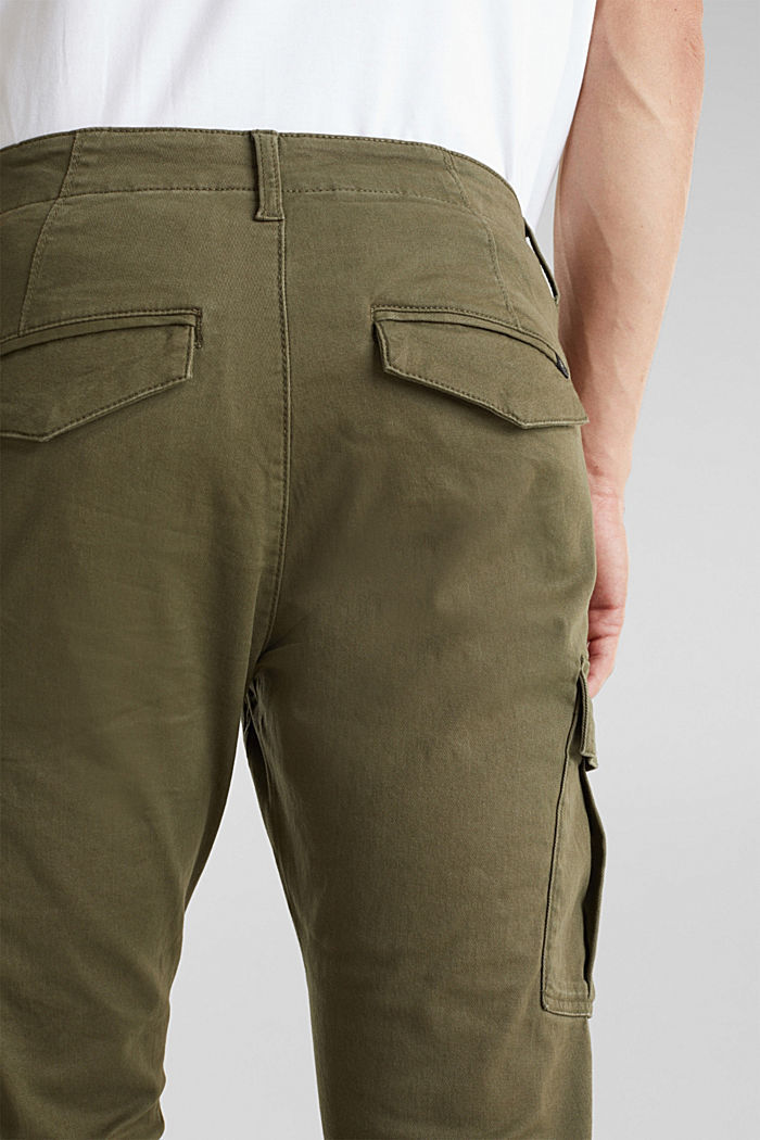 Cargo trousers containing organic cotton, DARK KHAKI, detail image number 5