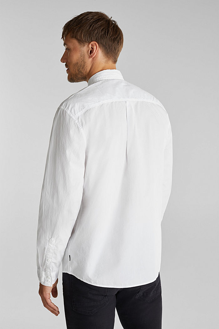 100% cotton shirt, WHITE, detail image number 3