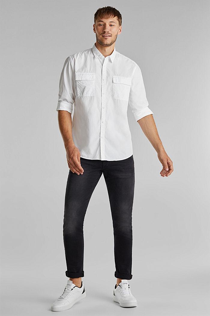 100% cotton shirt, WHITE, detail image number 1