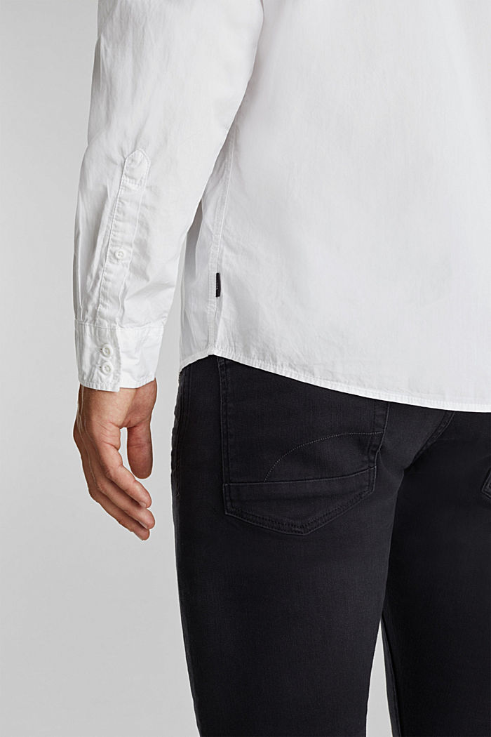 100% cotton shirt, WHITE, detail image number 5