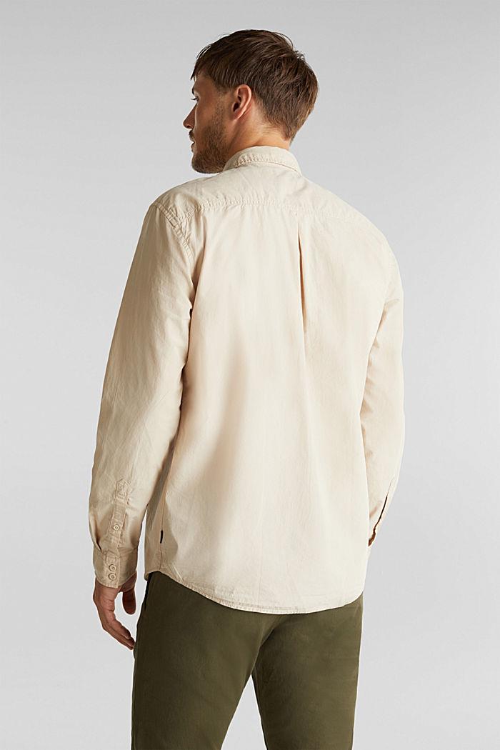 Hemd aus 100% Baumwolle, LIGHT BEIGE, detail image number 3