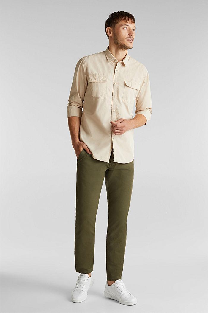 Hemd aus 100% Baumwolle, LIGHT BEIGE, detail image number 6