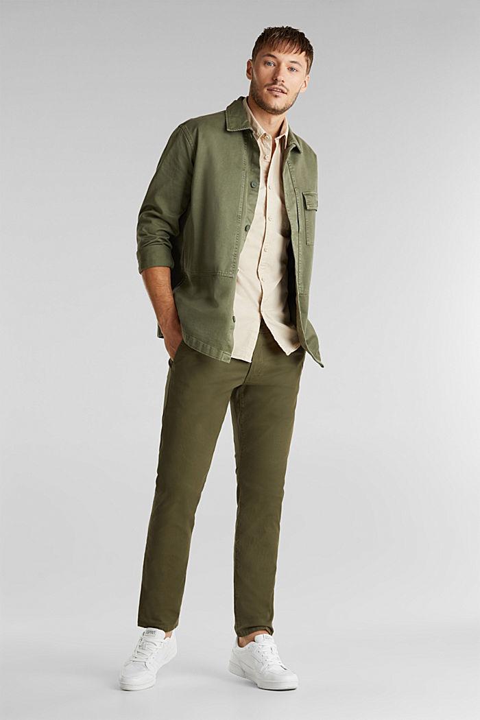 Hemd aus 100% Baumwolle, LIGHT BEIGE, detail image number 1