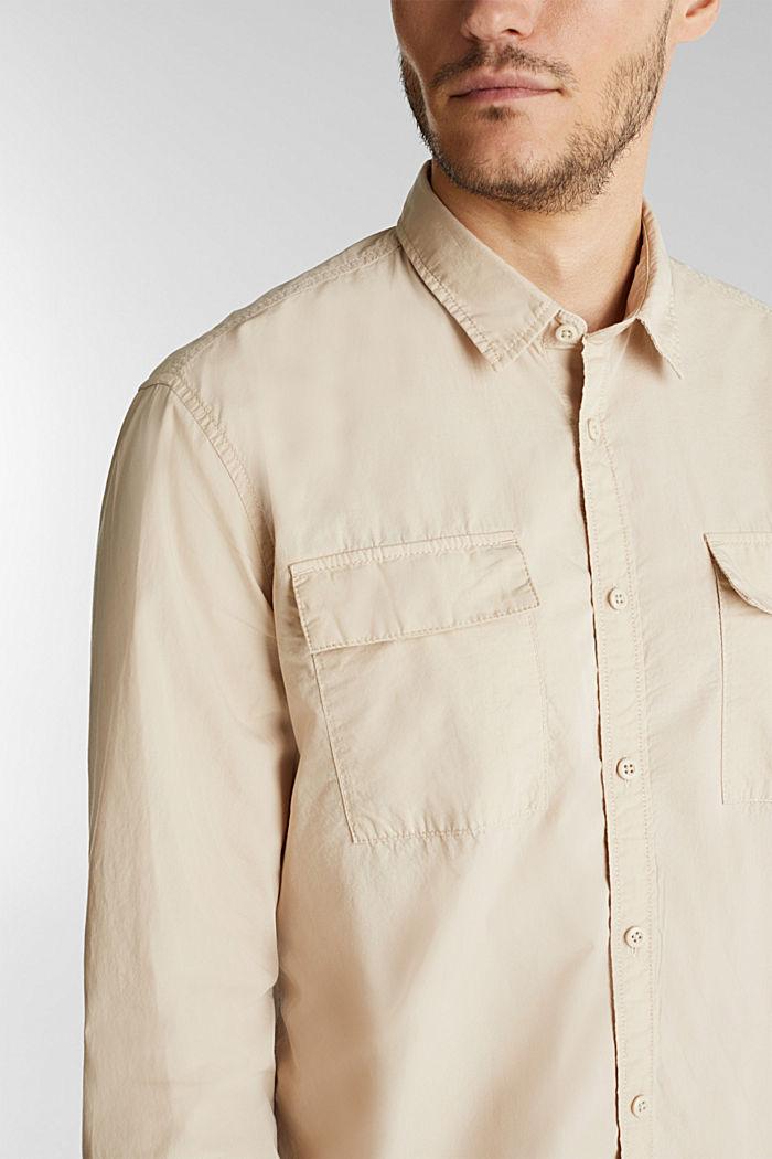 Hemd aus 100% Baumwolle, LIGHT BEIGE, detail image number 2