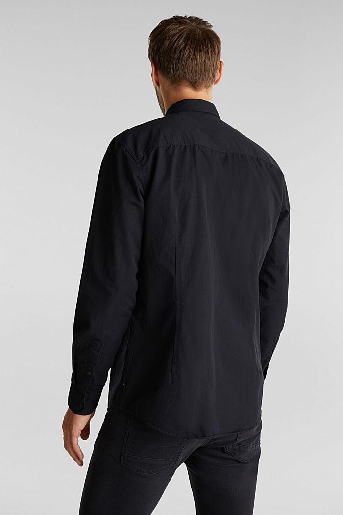 Twill shirt made of 100% organic cotton, BLACK, detail image number 3