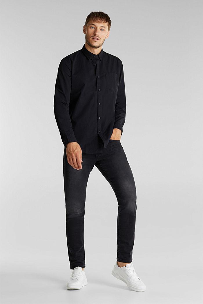 Twill shirt made of 100% organic cotton, BLACK, detail image number 6