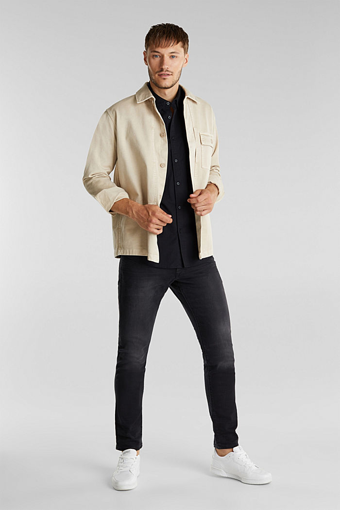 Twill shirt made of 100% organic cotton, BLACK, detail image number 1