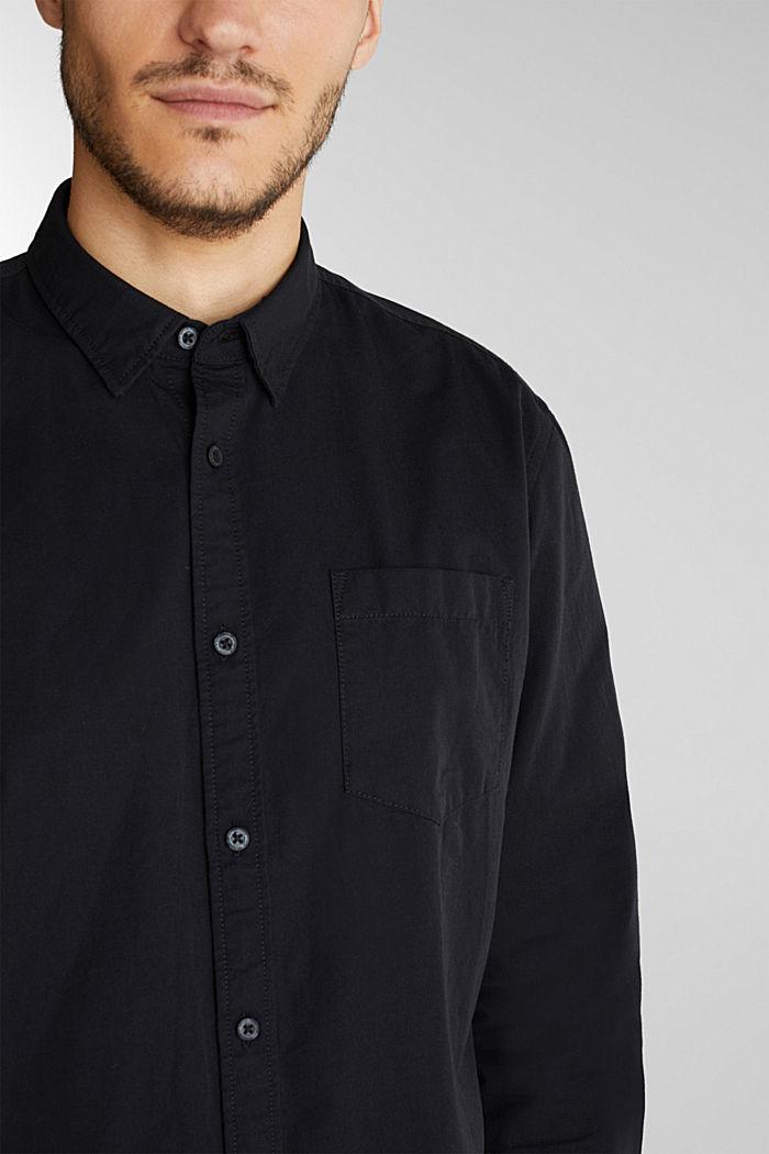 Twill shirt made of 100% organic cotton, BLACK, detail image number 2