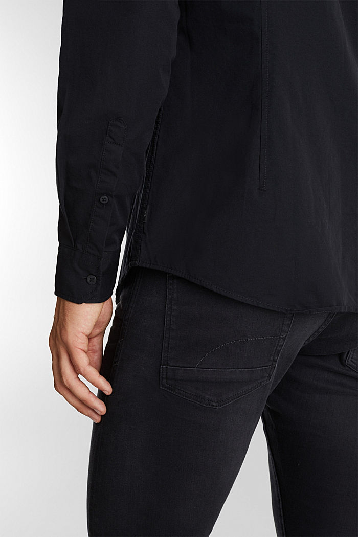 Twill shirt made of 100% organic cotton, BLACK, detail image number 5