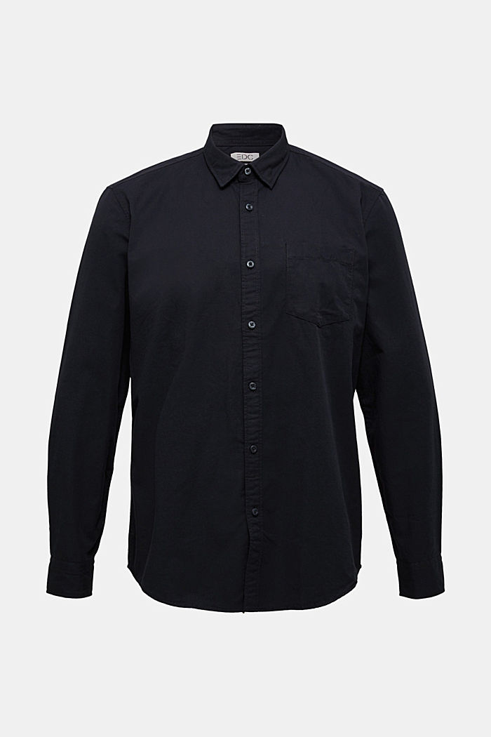 Twill shirt made of 100% organic cotton, BLACK, detail image number 8