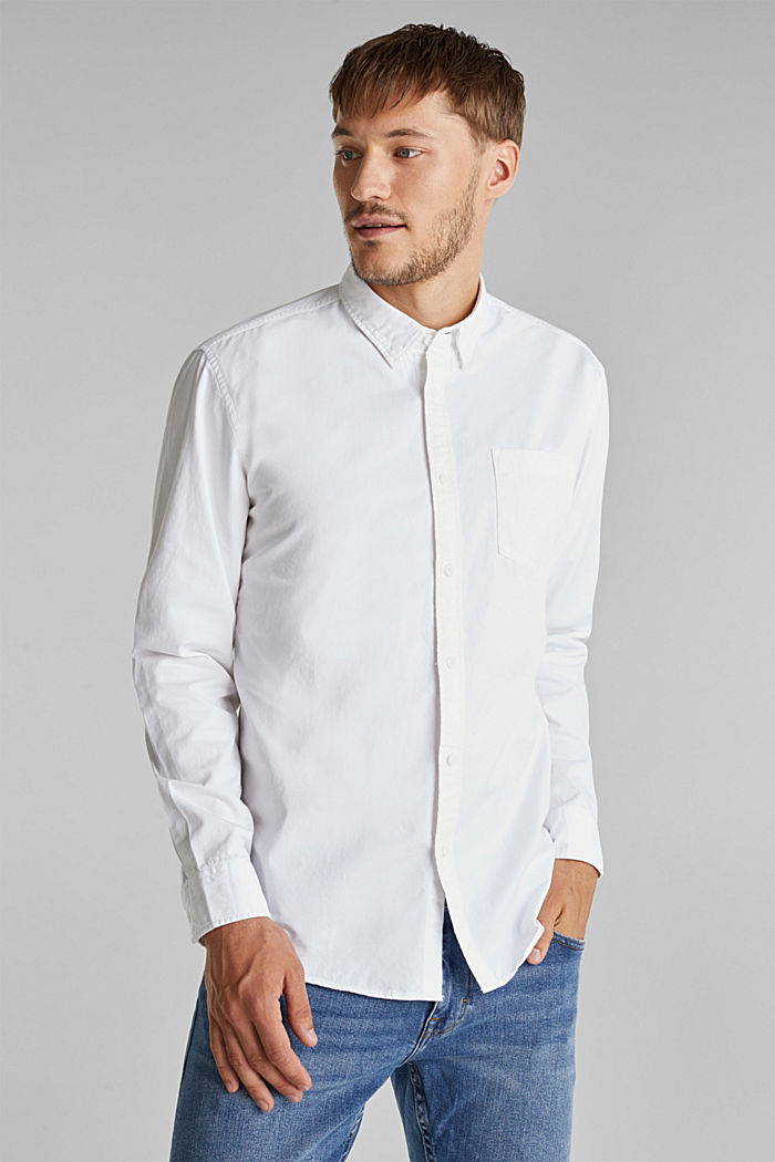 Twill shirt made of 100% organic cotton, WHITE, detail image number 0