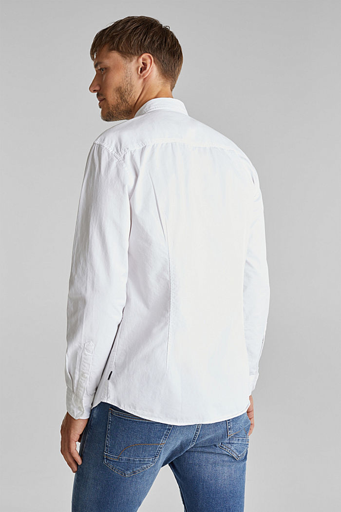 Twill shirt made of 100% organic cotton, WHITE, detail image number 3