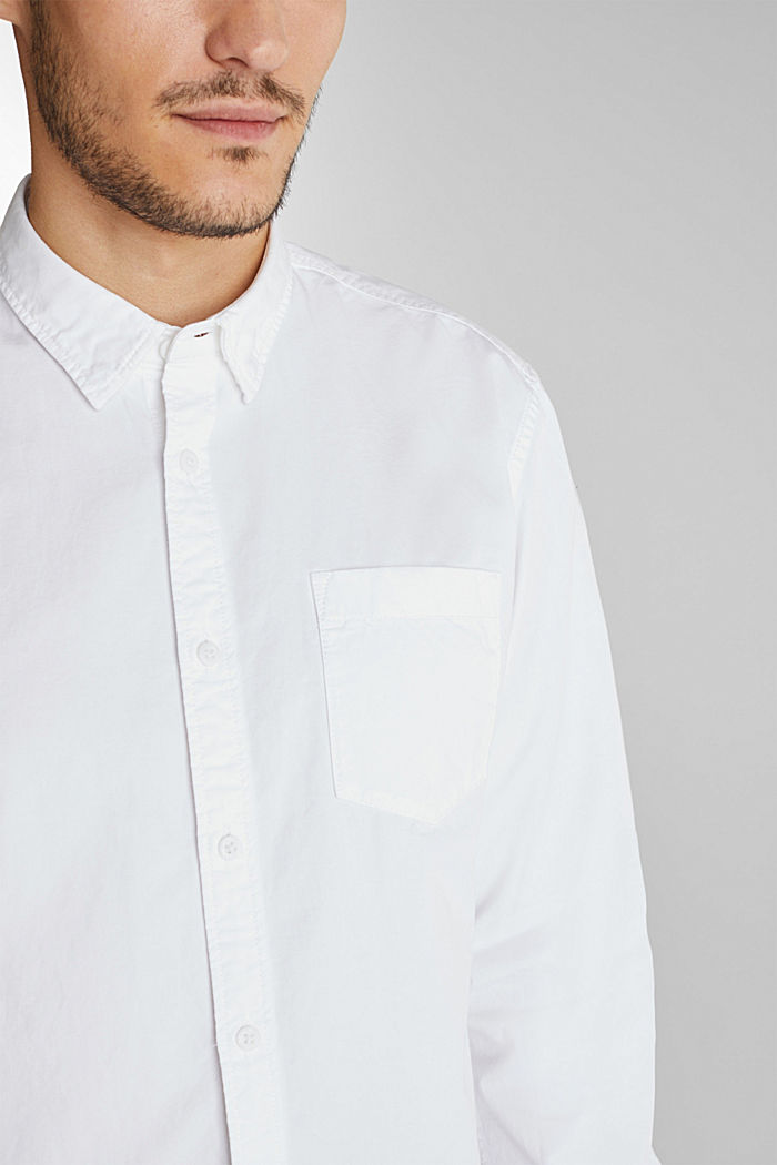 Twill shirt made of 100% organic cotton, WHITE, detail image number 2