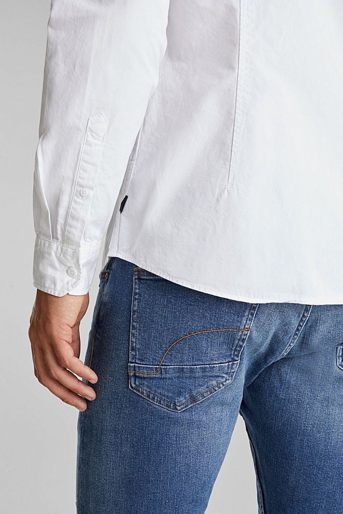 Twill shirt made of 100% organic cotton, WHITE, detail image number 5