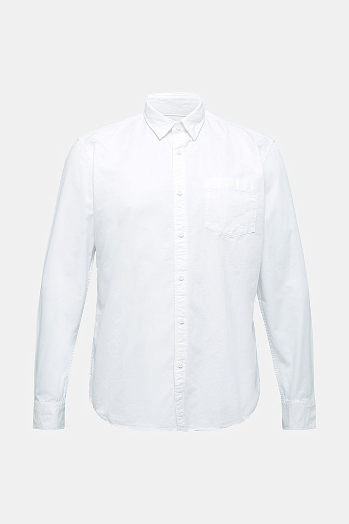 Twill shirt made of 100% organic cotton, WHITE, detail image number 7