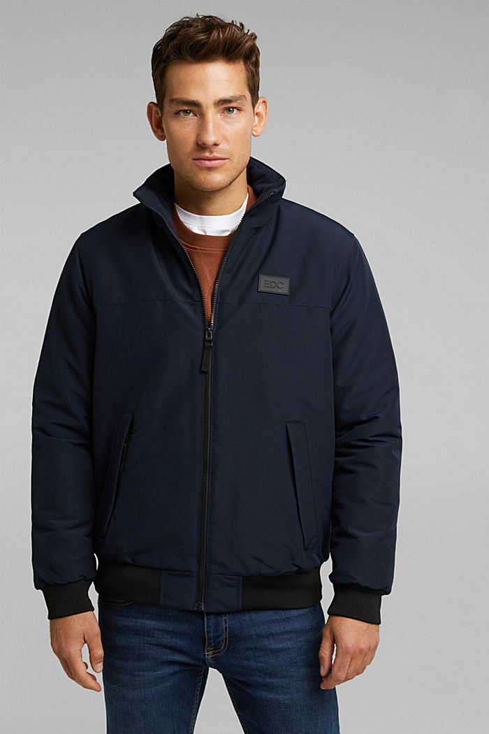 Padded jacket with fleece lining