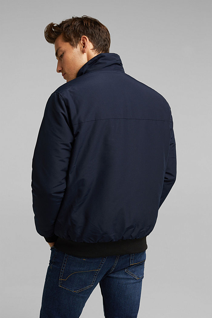 Padded jacket with fleece lining, DARK BLUE, detail image number 3