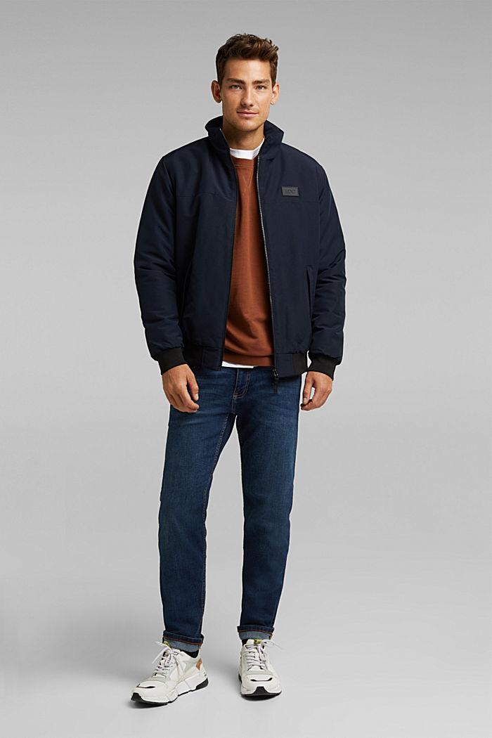 Wattierte Jacke mit Fleece-Futter, DARK BLUE, detail image number 1