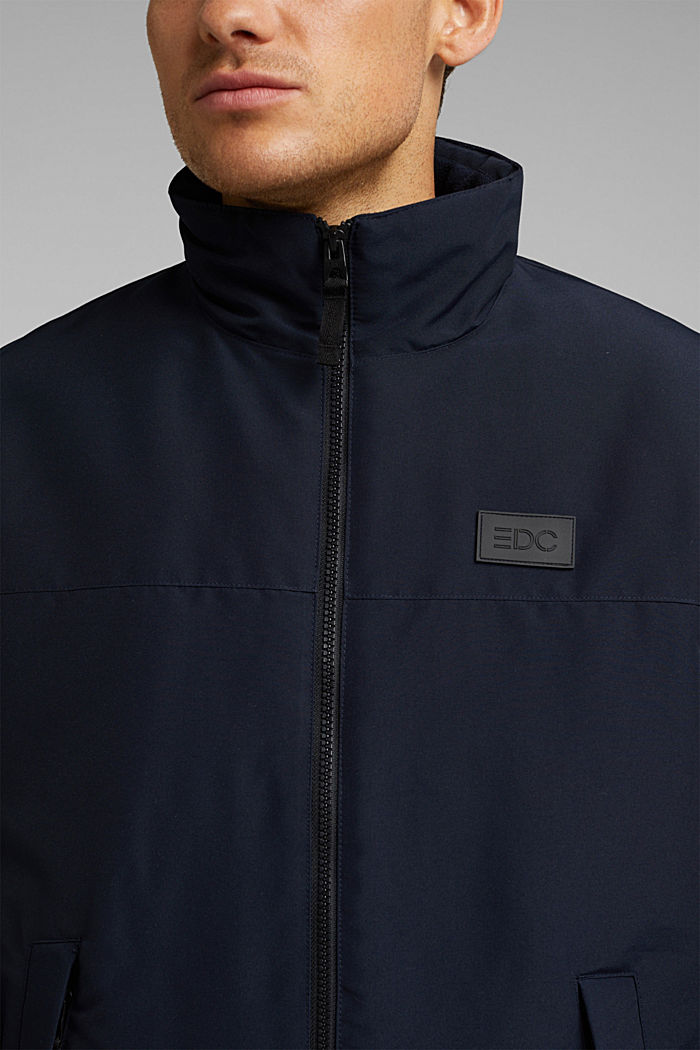 Padded jacket with fleece lining, DARK BLUE, detail image number 2