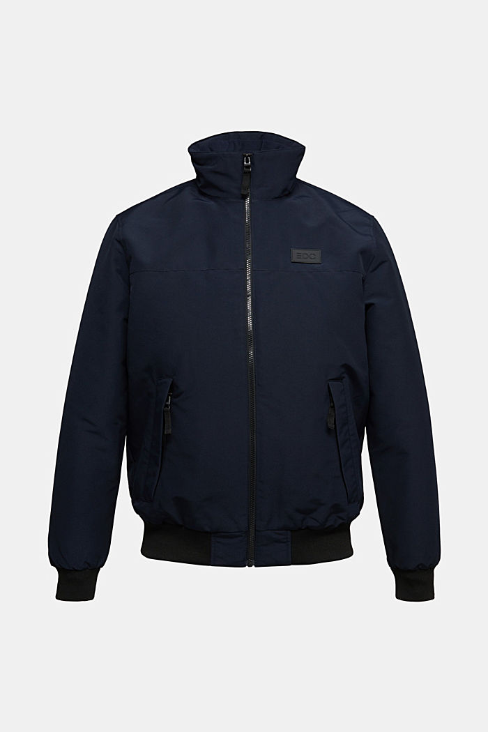 Padded jacket with fleece lining, DARK BLUE, overview