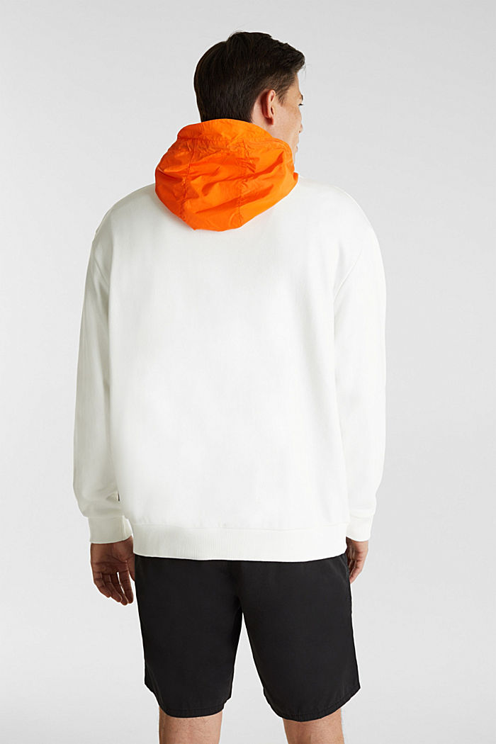 Sweatshirt mit Nylon-Kapuze, OFF WHITE, detail image number 3