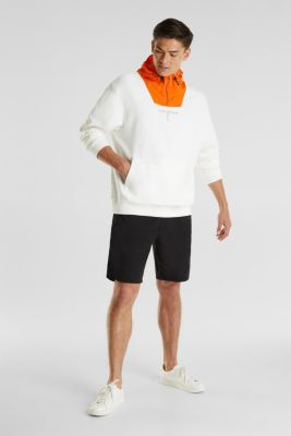 Sweatshirt with a nylon hood, OFF WHITE, detail