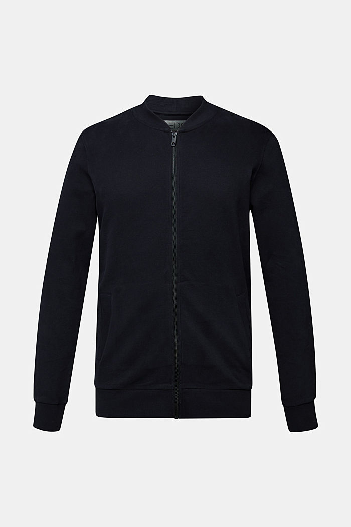 Sweat-Cardigan aus 100% Baumwolle, BLACK, detail image number 6