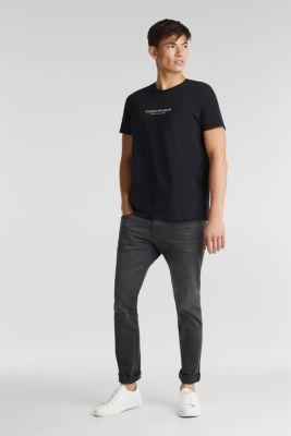 Jersey top made of 100% organic cotton, BLACK, detail