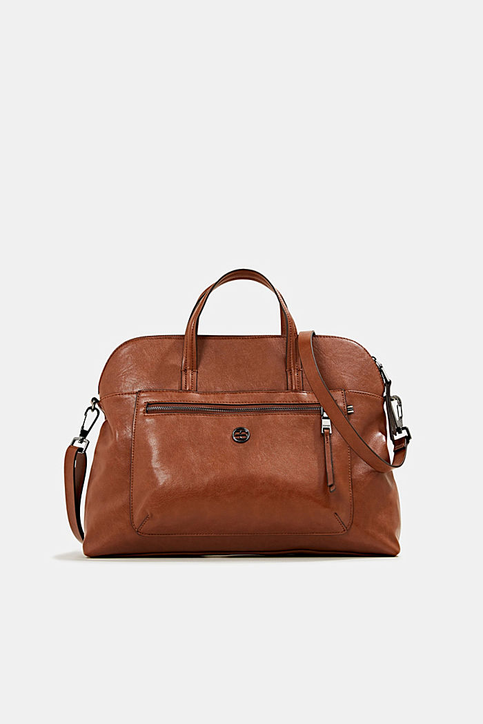 Business bag with a laptop pouch, vegan, RUST BROWN, detail image number 0