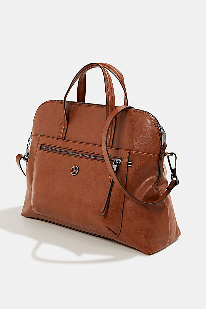 Business bag with a laptop pouch, vegan, RUST BROWN, detail image number 2