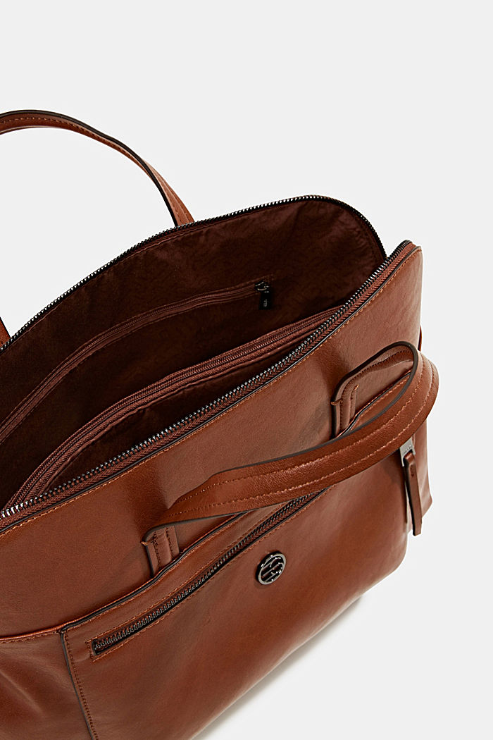 Business bag with a laptop pouch, vegan, RUST BROWN, detail image number 4
