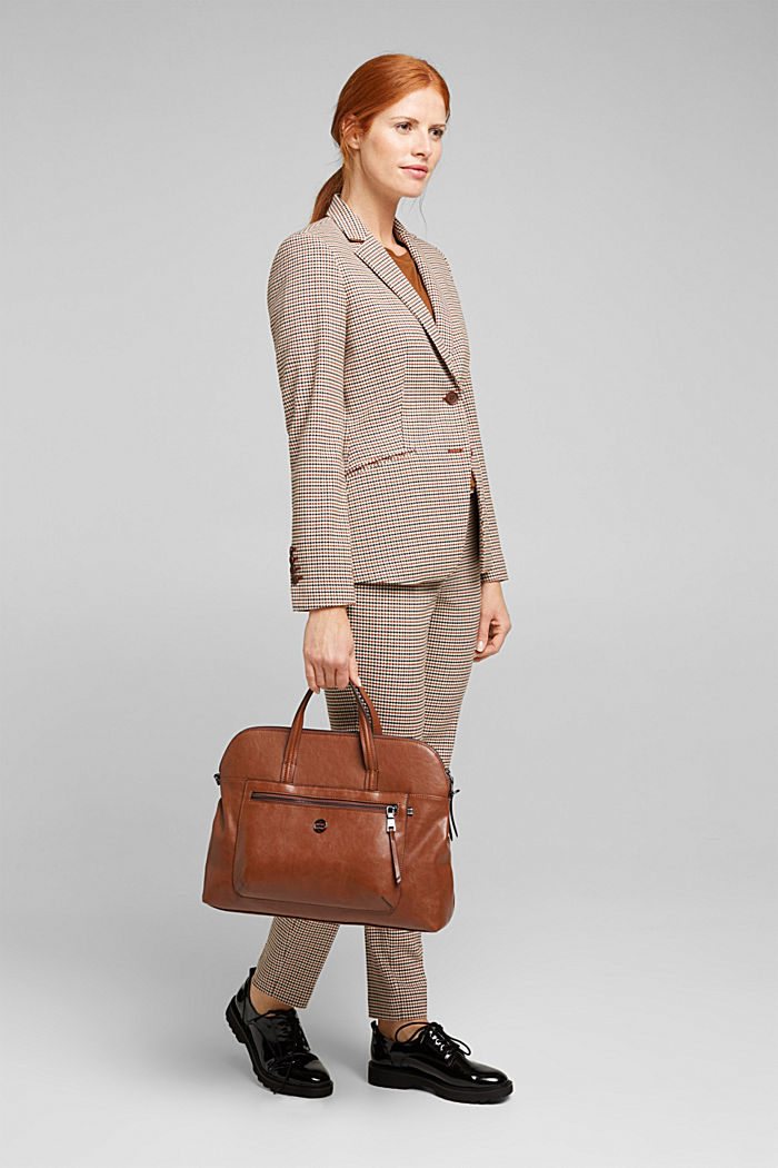 Business bag with a laptop pouch, vegan, RUST BROWN, detail image number 1