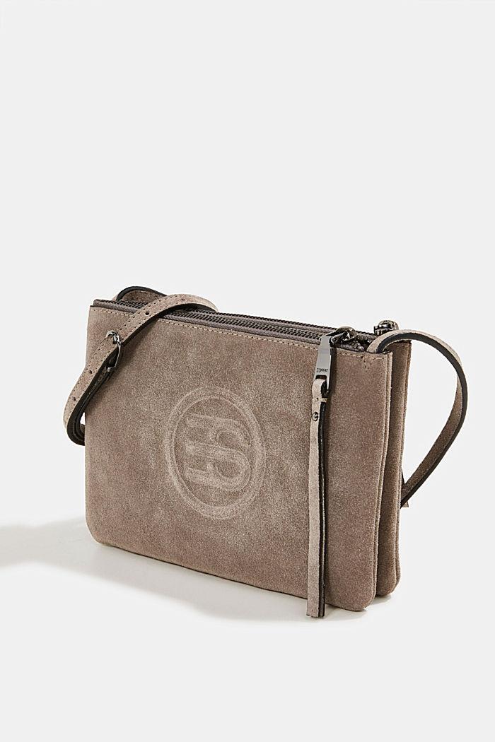 Shoulder bag made of 100% suede, ANTHRACITE, detail image number 2